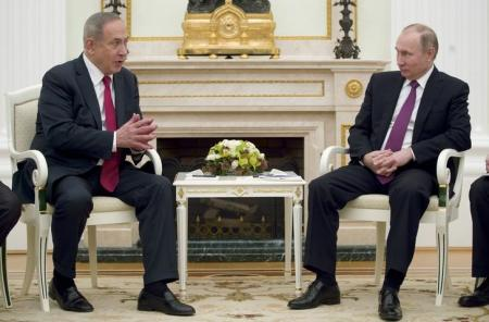 نتنياهو لبوتين: وجود إيران في سوريا يعرقل السلام