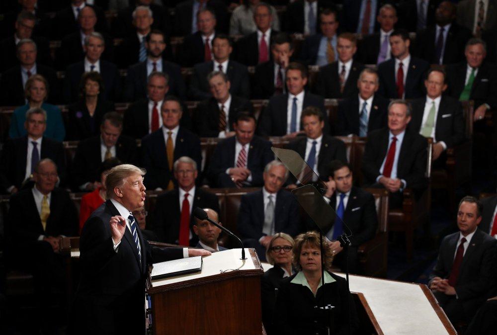 أبرز ماجاء في خطاب ترامب الأول أمام الكونغرس