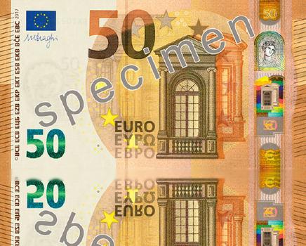 ورقة نقدية جديدة من فئة 50 يورو في التداول اليوم