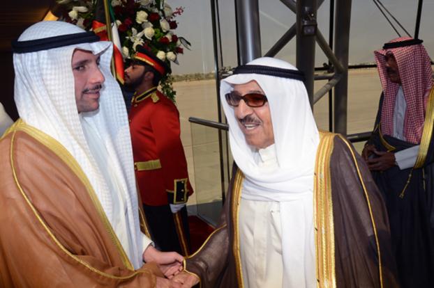 أمير الكويت يلتقي محمد بن راشد ومحمد بن زايد في دبي