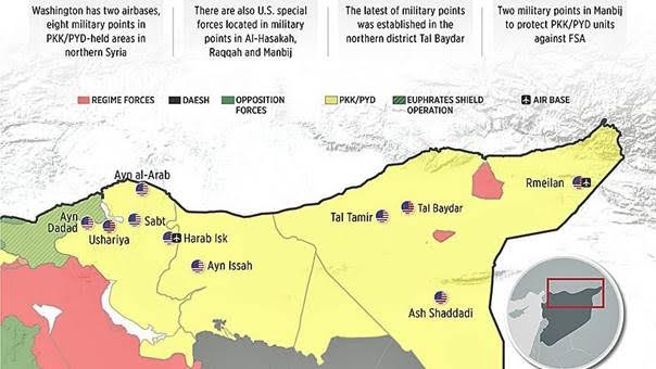 مساحات سيطرة «سورية الديموقراطية» تتجاوز «داعش» للمرة الأولى