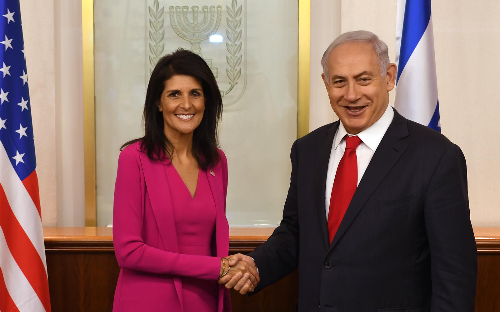 نتنياهو: هايلي قدمت دعماً أميركياً كبيراً إلى إسرائيل