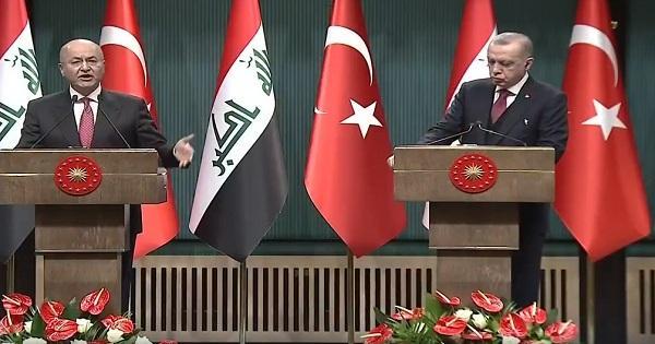 الرئيس التركي والعراقي يبحثان توسيع آفاق التعاون بين بلديهما