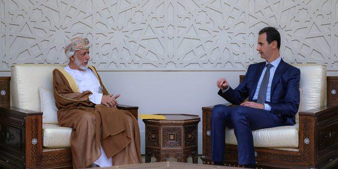 الأسد يستقبل الوزير العماني