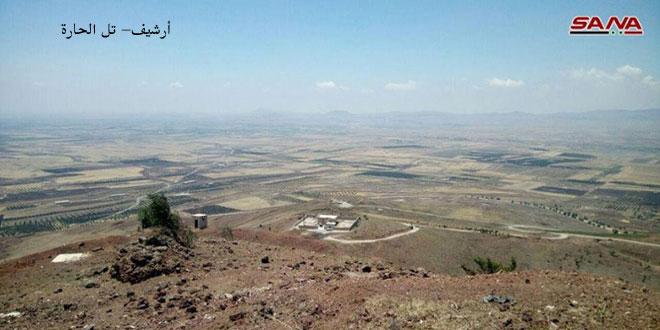 """سانا: عدوان """"إسرائيلي"""" على تل الحارة بريف درعا"""