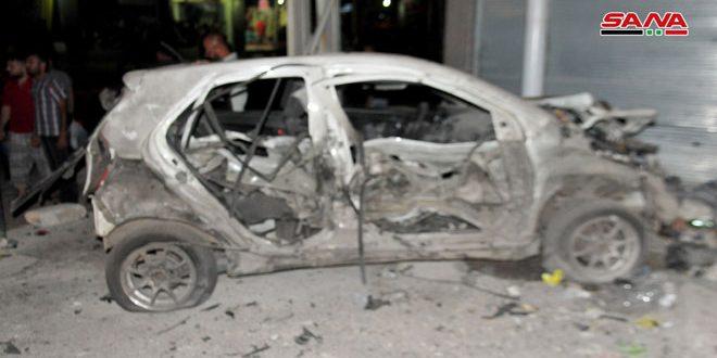 ارتقاء ثلاثة شهداء وإصابة سبعة مواطنين في تفجير إرهابي بالسويداء