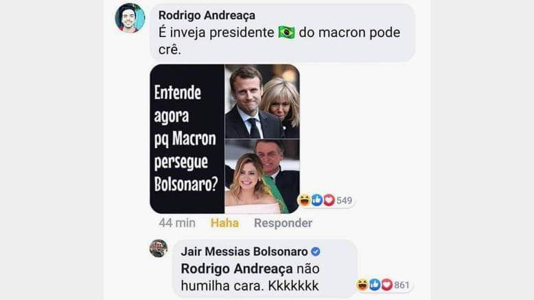 بسبب الزوجات.. الرئيس البرازيلي يسخر وماكرون يوبخ