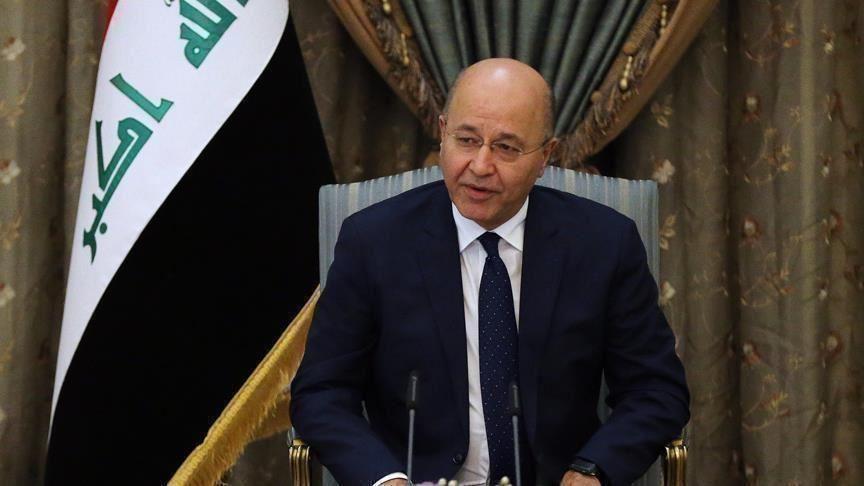 الرئيس العراقي يندد بالهجوم على المتظاهرين ووسائل الإعلام