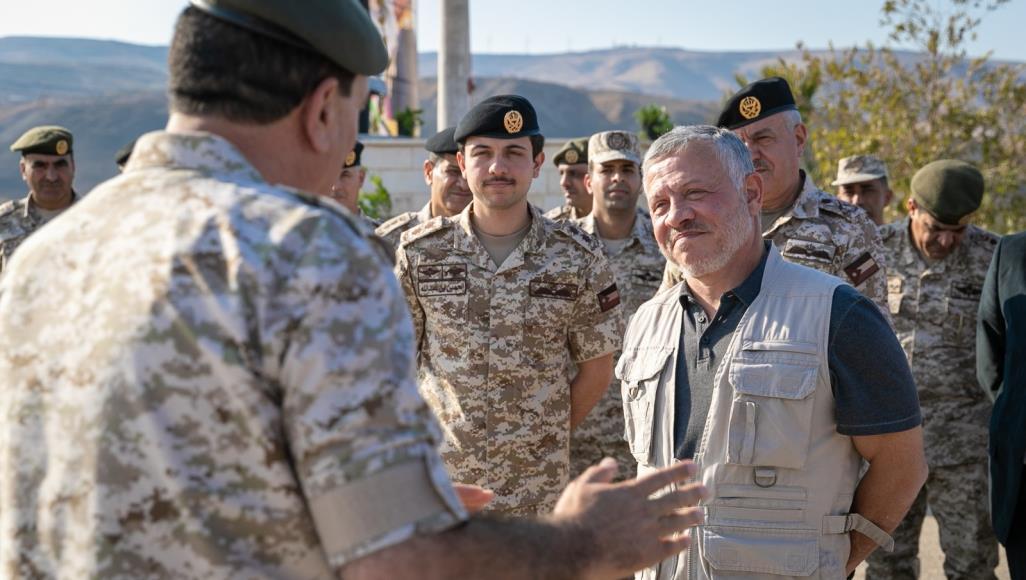 عاهل الأردن يزور جيبا على حدود المملكة مع إسرائيل بعد انتهاء وضعه الخاص