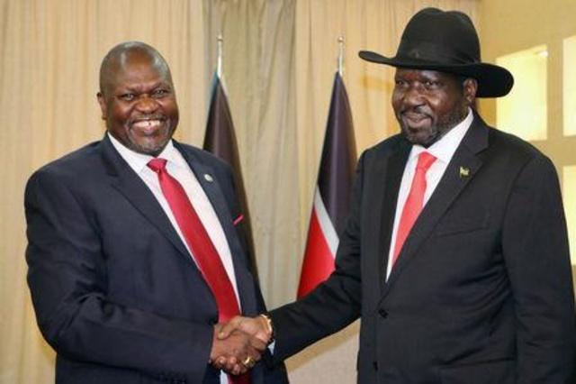 أوغندا: رئيس جنوب السودان وزعيم المتمردين السابق يؤجلان تشكيل حكومة وحدة