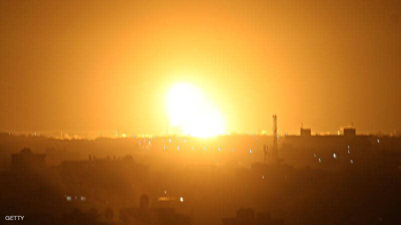 "غارات ضد مواقع لـ""حماس"" في قطاع غزة"