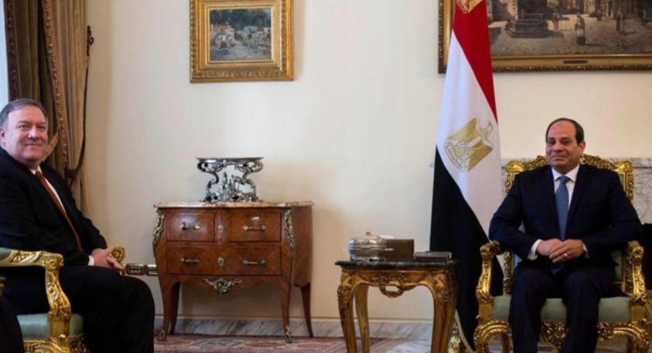 بومبيو يعبر للسيسي عن الغضب لوفاة مواطن أمريكي خلال سجنه بمصر
