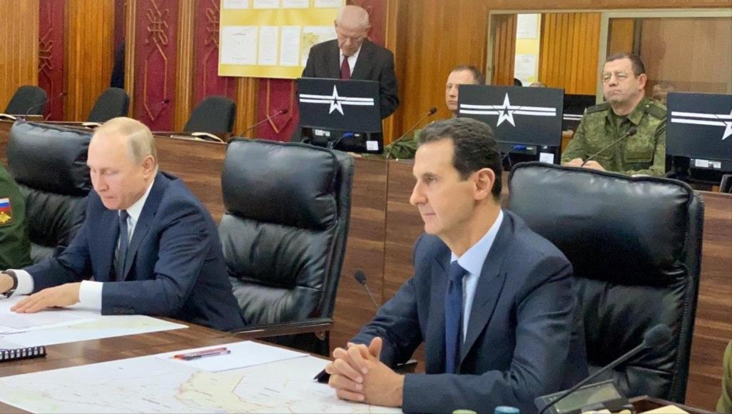 بوتين يقوم بزيارة نادرة لسوريا اجتمع خلالها بالأسد ويزور تركيا يوم الأربعاء