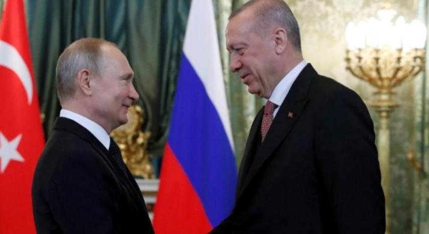 بوتين يبدأ محادثات مع أردوغان بتقديم التعازي في مقتل جنود أتراك