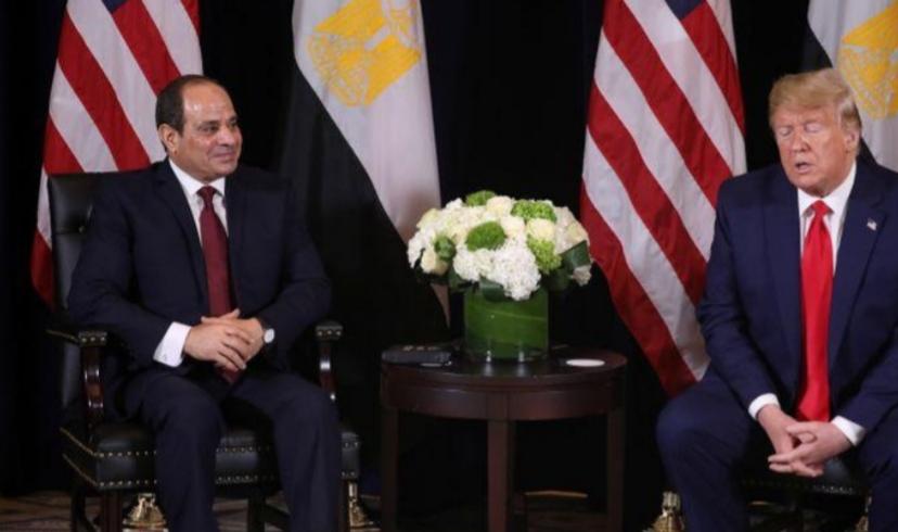 الرئاسة المصرية: ترامب يبلغ السيسي بأن أمريكا ستواصل الجهود بشأن سد النهضة