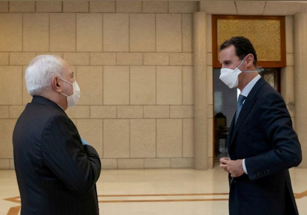 الأسد وظريف ينددان بالغرب خلال اجتماع بدمشق التزما خلاله بإجراءات الوقاية الطبية