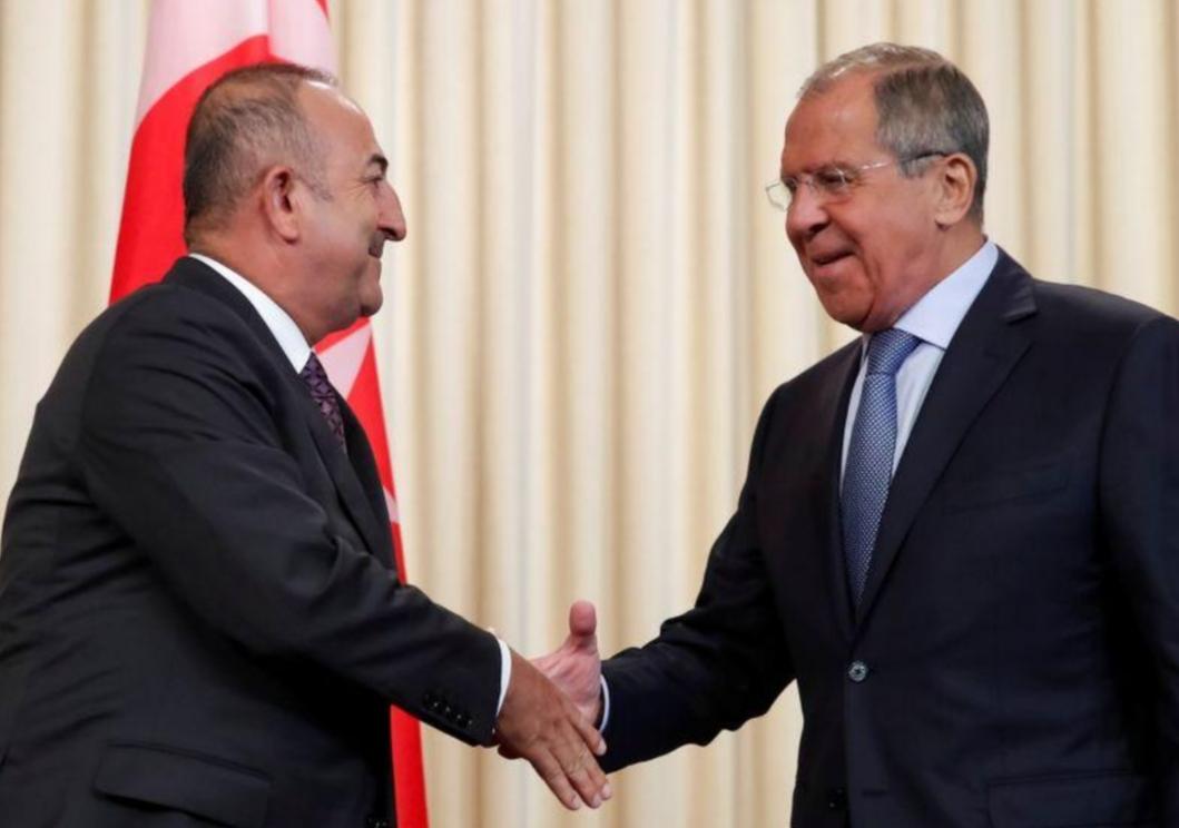 وزيرا خارجية روسيا وتركيا يؤيدان وقف إطلاق النار في ليبيا