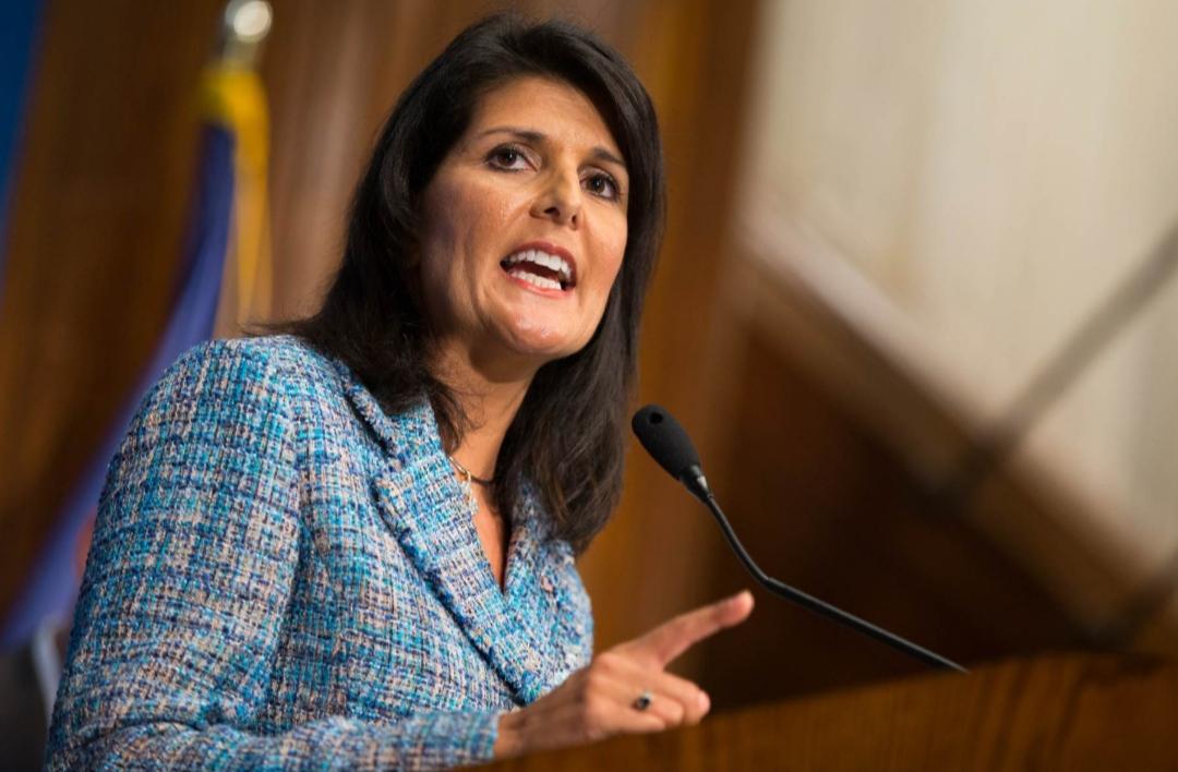 نيكي هالي: إذا انتخب بايدن سيعود إلى الاتفاق النووي مع إيران