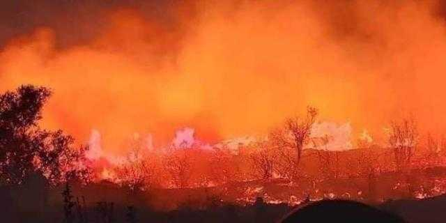 النيران تحاصر عدداً من القرى في سوريا