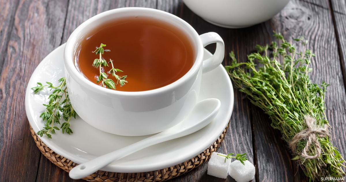 فوائد شاي الزعتر للقولون