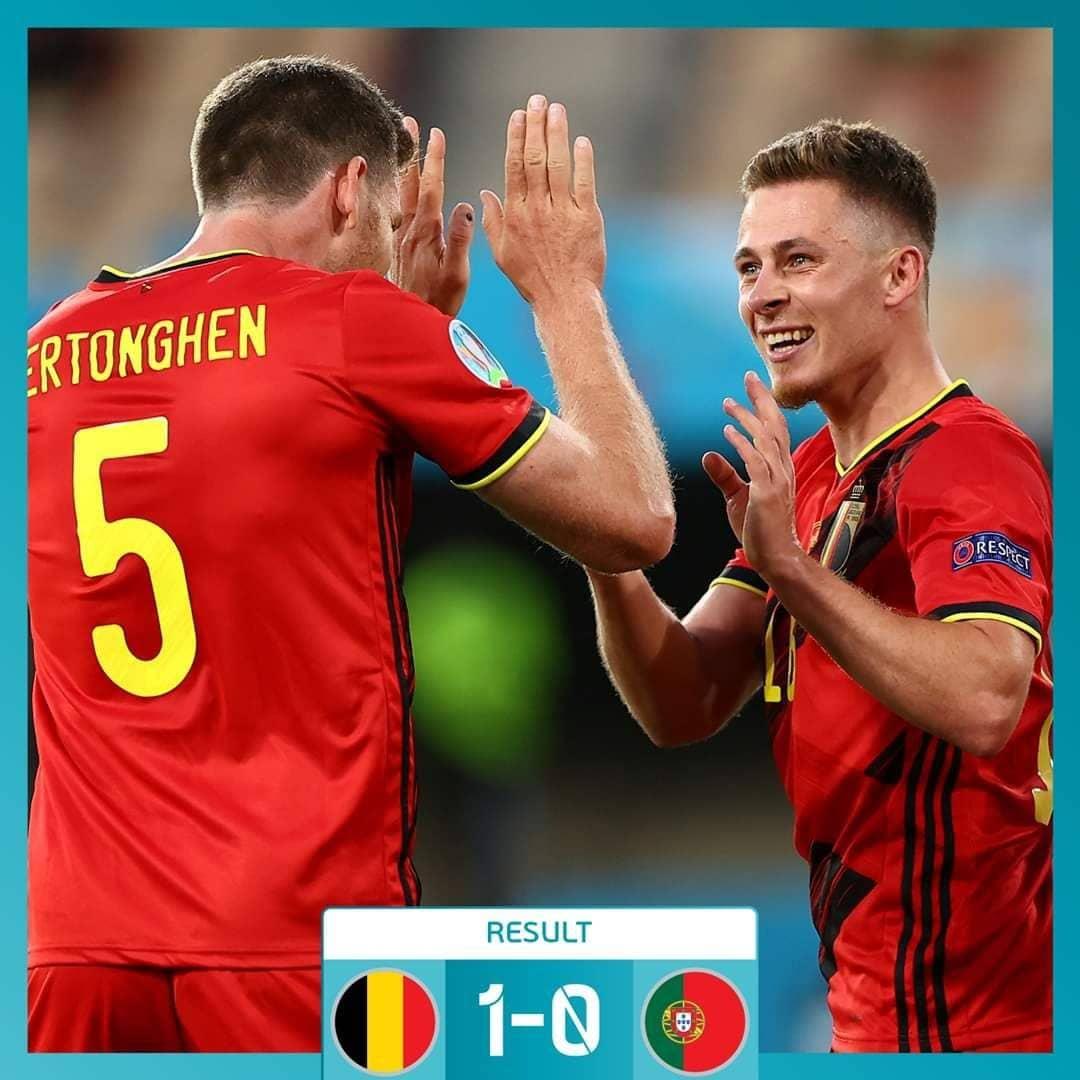 بلجيكا تجرّد البرتغال من لقبها الأوروبي