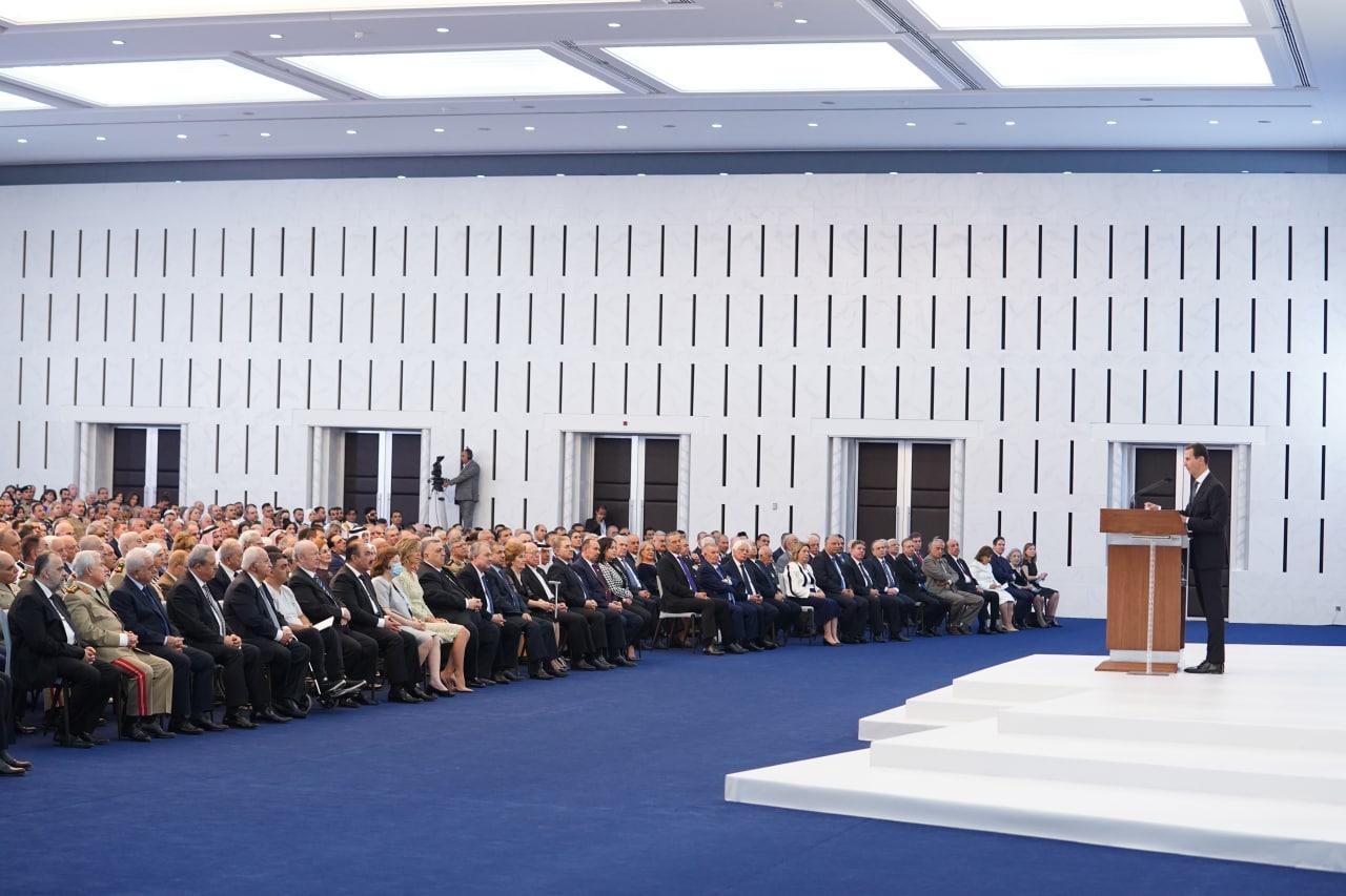 الرئيس الأسد خلال كلمته بعد أداء القسم الدستوري
