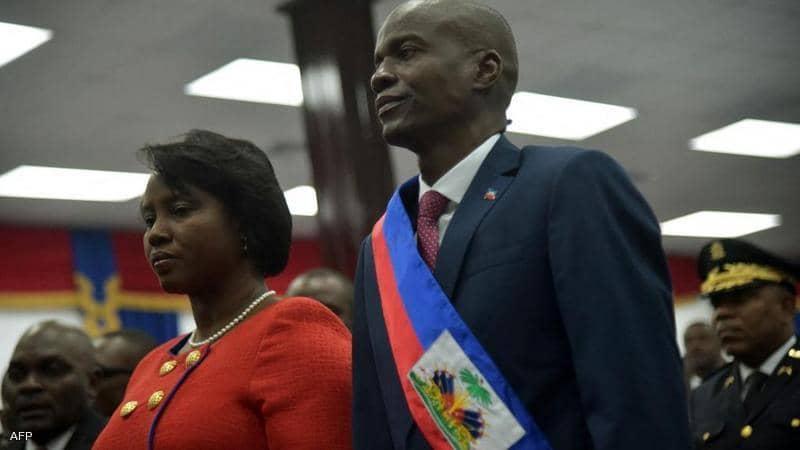 إصابة السيدة الأولى في هايتي خلال اغتيال الرئيس